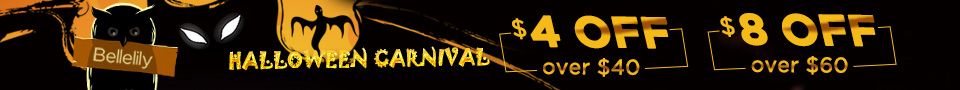 Halloween Carnival Sale $4 off over $40 code HC4; $8 off over $60 code HC8